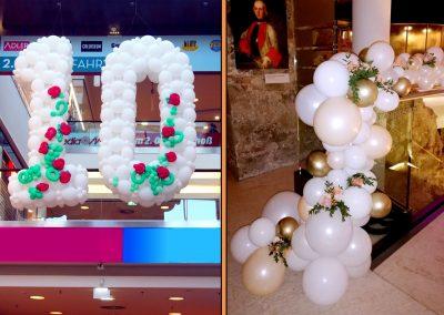 Ballonskulptur in einem Einkaufzentrum
