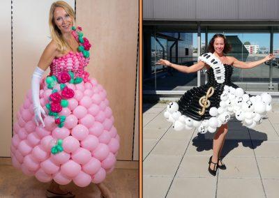 Kleid aus Ballons