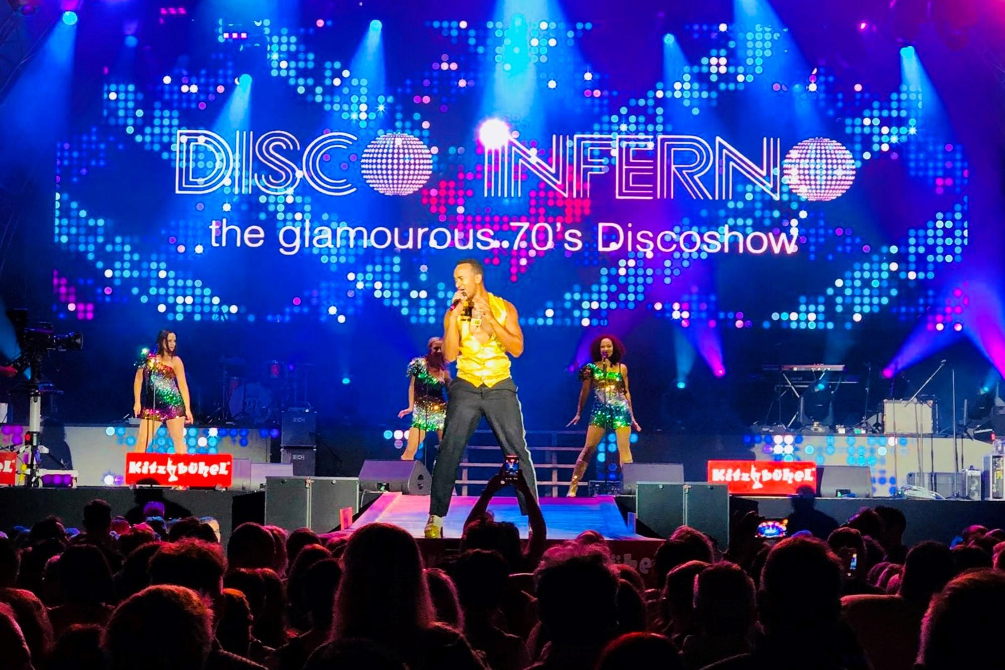 Disco Inferno mit ihrer Discoshow in Kitzbühl