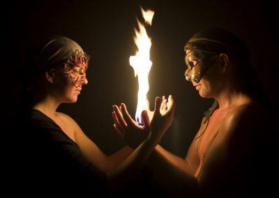 Feuershow bei einem Event oder Hochzeit in Wien