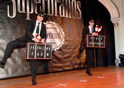 Jongliershow bei der Greenbrands Gala im Casino Baden
