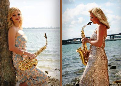 Die Saxophon Künstlerin begleitet ihr Event im Hintergrund oder performt auf der Bühne als Show