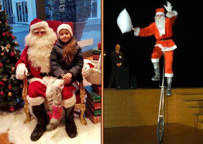 Weihnachtsmann, Nikolaus oder Engel ... auch auf Stelzen