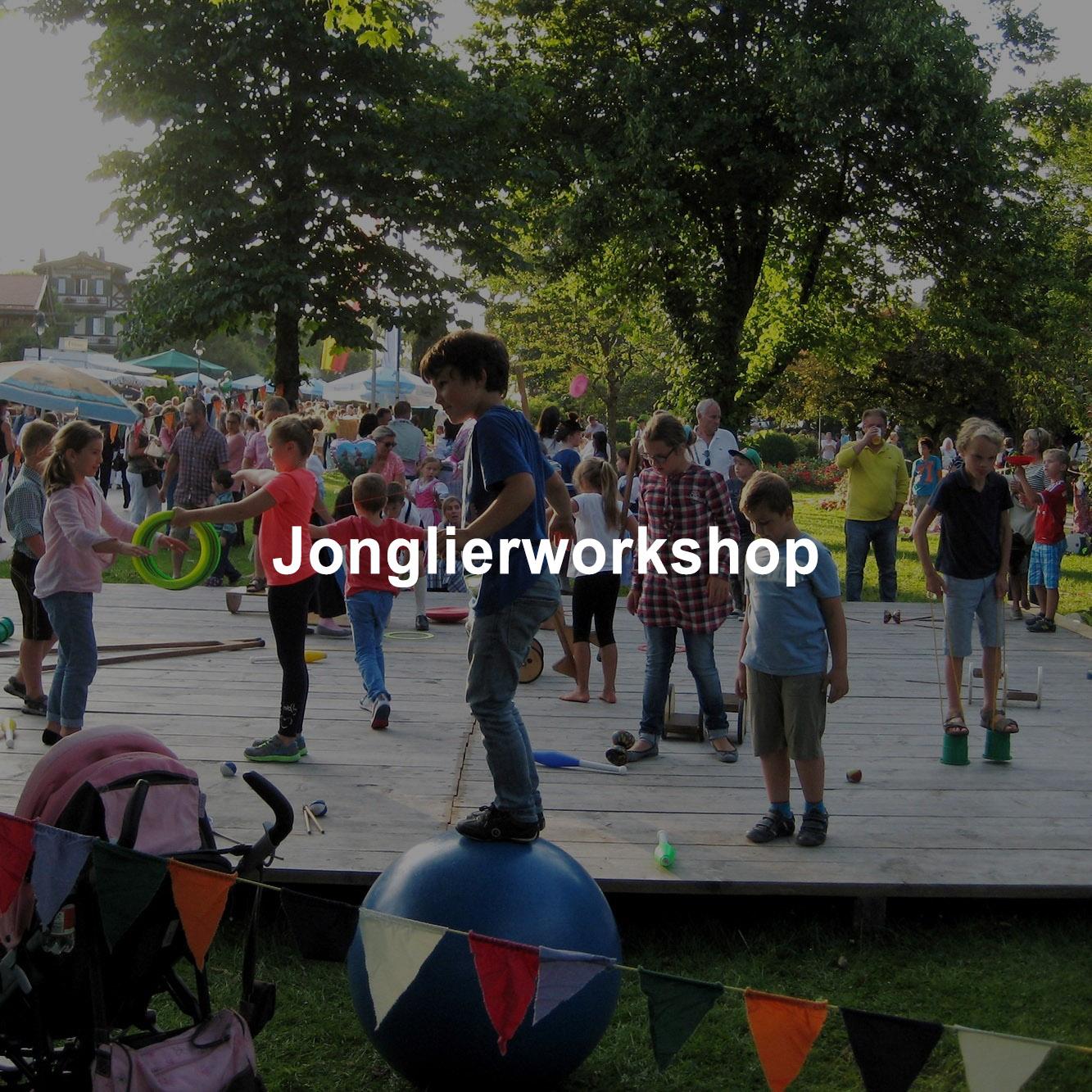 Jonglierworkshop beim Seefest Rottach Eggern am Tegernsee