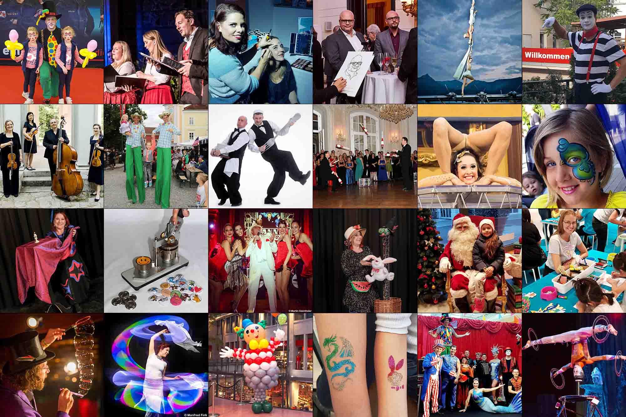 Die Künstleragentur Altmann präsentiert Ihnen Artisten Aller Art in Wien und ganz Österreich